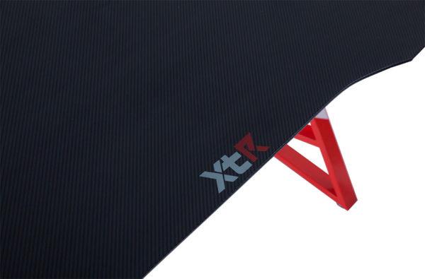 Mesa gamer XTR carbono/rojo 2